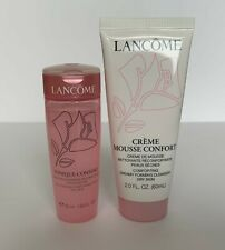 New Lancome Creme Mousse Confort Cleanser and Tonique Confort Travel - 2 pc Set