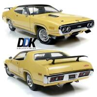 "AUTOWORLD AMM1186 1971 PLYMOUTH GTX LEMON TWIST ""MCACN"" LTD ED DIECAST CAR 1:18"