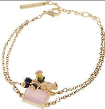 LES NEREIDES Gold Tone  Squirrel Charm Bracelet