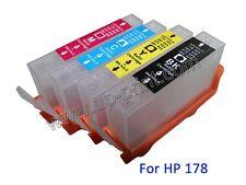 For HP 3070 B209a B210A 5515 5520 6510 3520 4PCS 178 178XL refillable cartridge