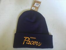 Indiana Pacers Mitchell and Ness Cuffed Knit Beanie Hat KK46Z