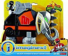 Imaginext Mighty Morphin Power Rangers - Noir ranger et Mastodon Zord NOUVEAU