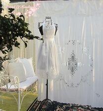 Battenburg Lace Bib Apron Maid Pinafore Costume~Victorian~White~Cotton~Victorian