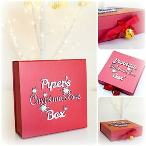 Personalised Christmas Eve Box - Family Christmas Eve Box  Gold Bell