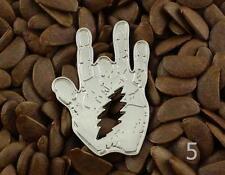 Grateful Dead Pins Jerry Garcia Hand Pin Lighting Bolt  Badge NO5