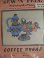 Sew 'N' Tell Coffee Break Needlepoint Kit 9x11 Inches