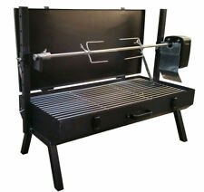 FC Portable 8kg Capacity Camping Mini Spit Roaster Rotisserie Charcoal BBQ Grill