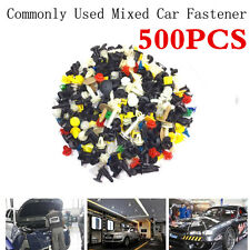 Mixed 500pcs Car Door Trim Panel Clip Fasteners Bumper Rivet Retainer Push Clips