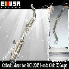 "Turbo Catback Exhaust for 2001-2005 Honda Civic 1.7L  4.5"" Muffler"
