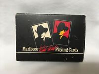 Marlboro Wild West Playing Cards 2 Deck Set 1990 Made in France 1 deck Sealed!