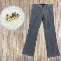 """Calvin Klein Jeans Women Corduroy Pants Size 10 Gray Bootcut Stretch Midrise 30"""""""