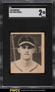 1948 Bowman Stan Musial ROOKIE RC #36 SGC 2 GD
