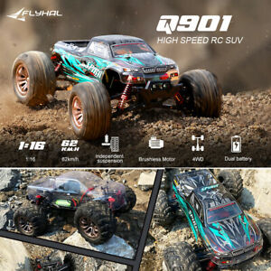 UK Brushless Remote Control Truck 50mph 62KM/H High Speed 4WD 1:16 Scale Car