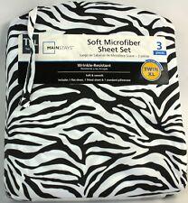 Mainstays TXL Soft Microfiber 3 Piece Zebra Sheet Set
