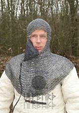 Ulfberth Kettenhaube BTW m. dreieckigem Mundschutz 8mm Unbehandelt Kettenrüstung