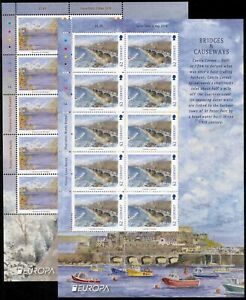 GUERNSEY 1976/2018 EUROPA CEPT SHEETLETS - each available to buy seperately