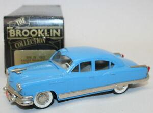 Brooklin 1/43 Scale Model Car BRK29 001 -1954 Kaiser Manhattan 4-Dr Sedan - Blue