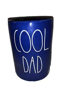 Rae Dunn COOL DAD Blue Spiced Cedarwood Candle New