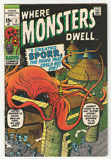WHERE MONSTERS DWELL 2 (1970) I created Sporr! VF 8.0