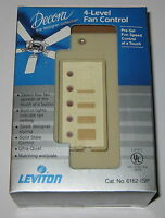 NOS Leviton Decora 6162 Quiet Fan Speed Control with 4 Presets - Wall Mount Kit