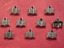 Tibetan Silver Book Charms 10 per pack