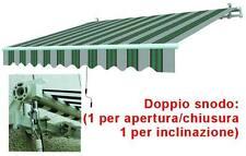 TENDE DA SOLE A SBRACCIO TELO BIANCO/VERDE CM.195X150