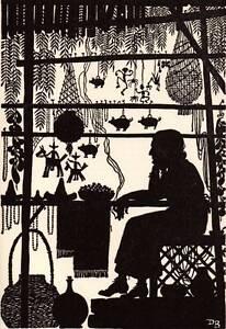 "Original 1948 Don Blanding Art Deco Vintage Print ""Tia Rosa"" Aunt Rose"