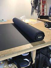 Stretch Matt Black Car Upholstery Vinyl Nappa Leather Look Material