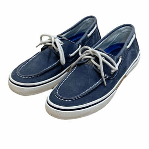 Sperry Mens Blue Top-Sider Canvas Halyard Boat Shoe 2-Eyed Size 9 M