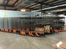 Commercial Rolling Clothing Garment Z Rack With Nesting Base Orange