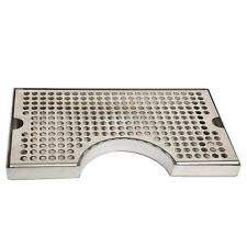 Stainless Steel Surface Mount Kegerator Beer Drip Tray With Tower Cut Out