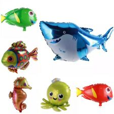 6 Pack Of Underwater Theme Balloons Birthday Party Under The Sea Shark Fish