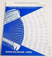 Partition sheet music DADIER / LEMOINE : Petite Fée du Musette * 90's Accordéon