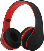 Wireless Foldable Headphones, Bluetooth Over-Ear Stereo Earbuds Wired Headsets