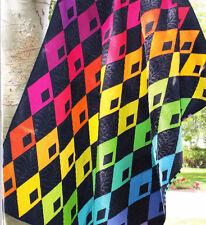 Diamond Detour - modern pieced quilt PATTERN - 3 sizes - Sassafras