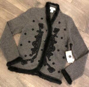 Susan Bristol Womens Sweater Size S Small Gray Beautiful NWT