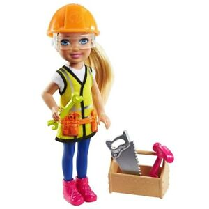 """Barbie Chelsea Can Be... Anything Construction Worker Doll Mattel 6"""" Figure NEW"""