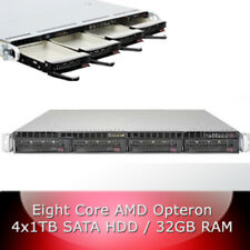 1HE / 1U Server  - H8SGL-F - 8-Core CPU - 32GB RAM - 4 x 1TB HDD - Hot-swap