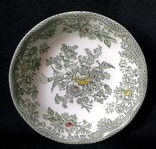 ENOCH WEDGWOOD KENT PRESERVE DISH IRONSTONE BUTTER DISH IN GREEN YELLOW AND RED