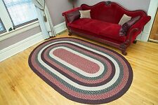 BRAIDED JUTE EARTH RUG CAPITOL EARTH RUGS 8 X 11 OVAL MANY COLORS AND SIZES NEW!