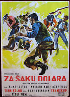 1964 Original Movie Poster Fistful of Dollars Sergio Leone Clint Eastwood Rare