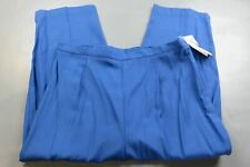 maggie barnes womens pants rayon blend blue pleated front wide leg size 18W