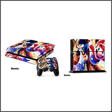 Playstation 4 PS4 Skin Vinyl Design Folie Aufkleber Schutz Sticker -sonic mario-