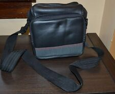 Black Soft Padded Camera Bag with Shoulder Strap Faux Leather Front Compartment