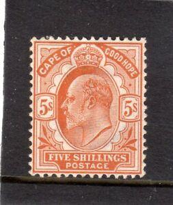 EDVII CAPE OF GOOD HOPE 1902-1904 5/- BROWN - ORANGE MM SG;78 CAT.£160