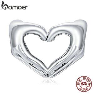 BAMOER European S925 Sterling Silver DIY Charm Show love Bead For Bracelet