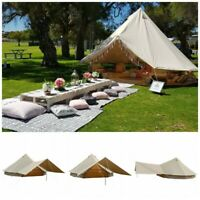 4M Cotton Canvas Bell Tent 4 Season Rain Flying Awning Waterproof Glamping Yurts