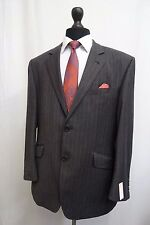 Men's Jaeger Charcoal Pinstripe Suit Jacket Blazer 44S KK207