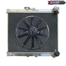 "3ROW ALUMINUM Radiator For 1986-1988 Mazda RX7 RX-7 S4 FC3S 1987 +16""Fan"