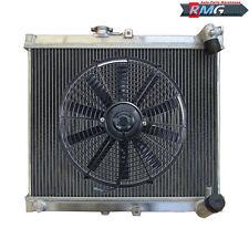 "3ROW ALUMINUM Radiator For 1986-1988 Mazda RX7 RX-7 S4 FC3S 1987 +16""Fan"
